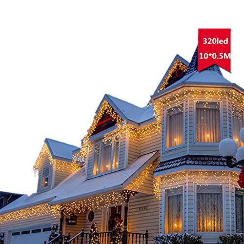 BATOP 110v 220v EU/us Plug 10m 320led Chrismas Lights Outdoor Warm White Wedding New Year Xmas Decoration Twinkle String Fairy Lights for $<!--$67.94-->