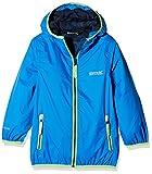 Regatta Waterproof Lever II Kids' Outdoor Hooded Jacket available in Oxford Blue - Size 11/12