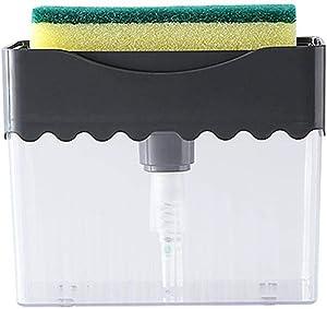Kitchen Soap Dispenser + 2 In 1 Sponge Rack-innovative Design-high Quality Dish Soap Dispenser-countertop Sink Dispenser-instant Replenishmen