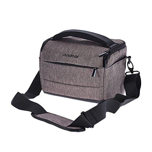 Andoer Cuboid-shaped DSLR Camera Shoulder Bag Portable Fashi
