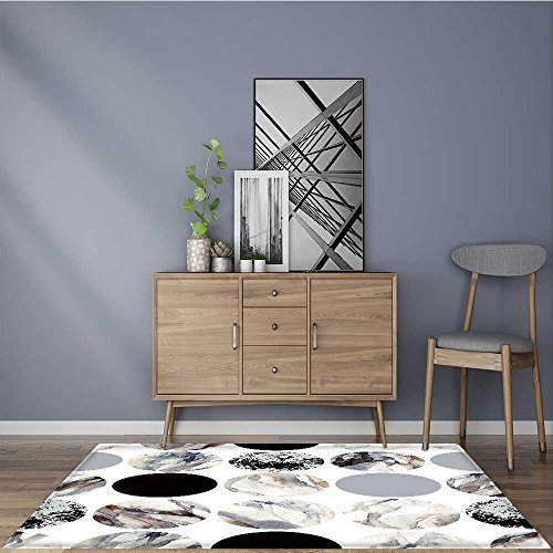 for Home or Travel abstract geometric background water color marble painting watercolor circle seamless pattern Easier to Dry for Bathroom 24''x21'' by L-QN