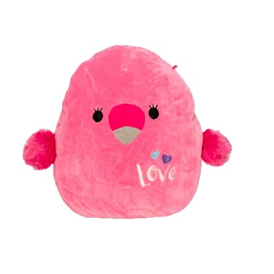 Squishmallows Kellytoy Valentines 2020 16 Inch Cookie The Flamingo Plush Doll: Toys & Games