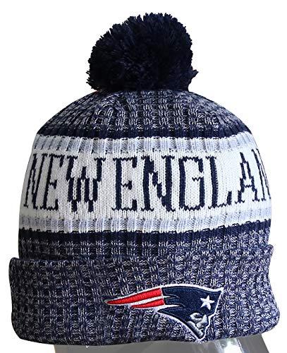 Sport Winter Pom Beanie/Knit Cap & NE PATRIOTS One Size Fix Most Multicolour (Toboggan Patriots)