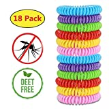 Mosquito Repellent Bracelets,Natural for Kids & Adults(18 Pack)Waterproof Elastic Coil Pest Control Bug