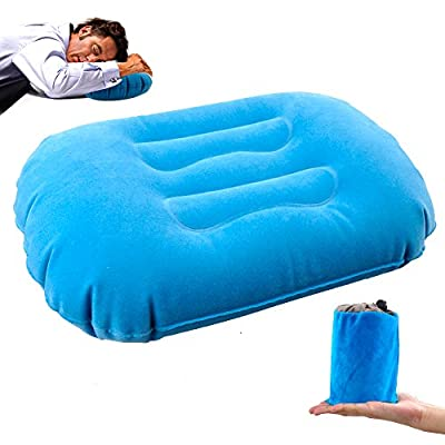 kamlif Camping Pillow, Backpacking Pillow Inflatable Camping Pillow For Neck & Lumber Support,Portable Inflating Travel Compressible Pillow For Backpacking,Hiking,Airplane,Train,Car,Office from kamlif