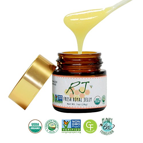 GREENBOW Organic Royal Jelly - 100% Organic, Pure, Gluten Free, Non-GMO Royal Jelly - One of the Most Nutrition Packed Diet Supplements - Highest Quality Royal Jelly - No Additives/Flavors (28g) - Raw Royal Jelly