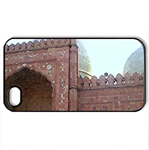 Baadshaahi mosque,lahore - Case Cover for iPhone 4 and 4s (Ancient Series, Watercolor style, Black)