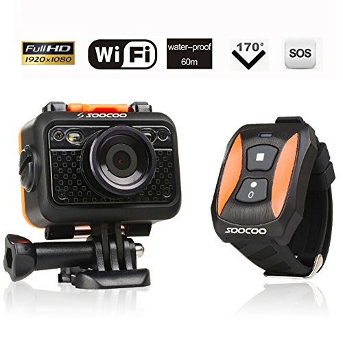 Jcoestyle Full HD 1080P 60M WIFI 170 Degree Wide Angle Anti-Shake Waterproof Sports Video Camera Remote Control DV Action Diving Camera Jocestyle