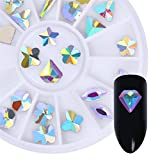 NICOLE DIARY 1Box Diamond Star Rhinestone Nail Jewels Decoration Marquise Opal Mixed Shapes Flat Bottom Colorful Crystal for Nail Face PhoneCase Home 3D Decoration