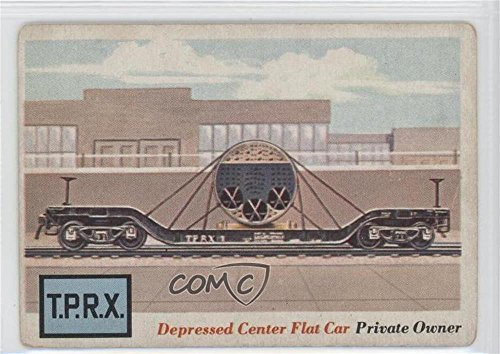 Depressed Center Flat Car COMC REVIEWED Good to VG-EX (Trading Card) 1955 Topps Rails and Sails - [Base] #17 Depressed Center Flat Car