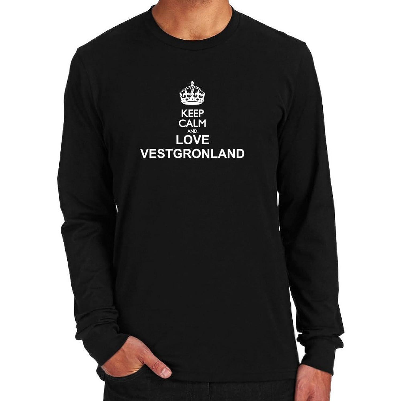 Keep calm and love Vestgronland Long Sleeve T-Shirt