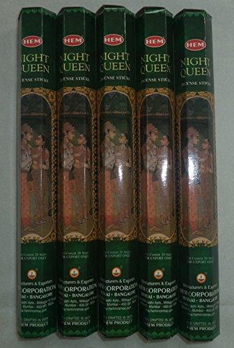 Incense Queen Night - HEM Night Queen 100 Incense Sticks (5 x 20 stick packs)
