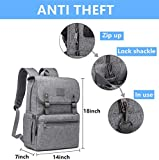 Anti Theft Laptop Backpack Men Women Vintage