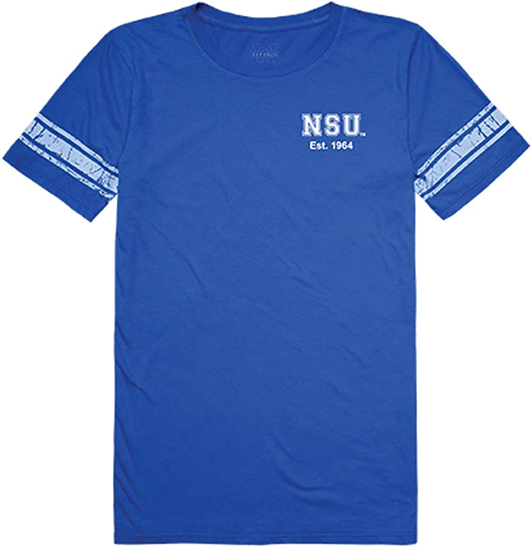 W Republic NSU Nova Southeastern Sharks NCAA Women's t Shirt Practice Football Tee