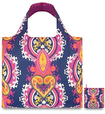 LOQI Opulent Blueviolet Reusable Shopping Bag, Multicolor