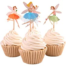 BETOP HOUSE Set of 24 Pieces Cute Ballet Dancer Girls Fairy Peri Dessert Muffin Cupcake Toppers for Picnic Wedding Baby Shower Birthday Party Server (#2)