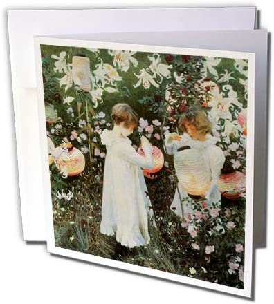 3dRose Little Girls in A Garden by John Singer Sargent Greeting Cards 6 x 6 gc/_126515/_1 Set of 6