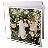 3dRose Sargent Little Girls in A Garden By John