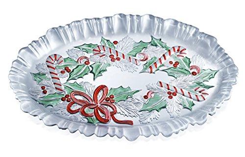 - Celebrations by Mikasa Festive Wreath Canape Tray, 17.7-Inch