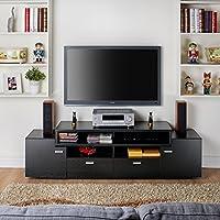 Furniture of America 72-inch Peyton Modern Tiered Stand (Black)