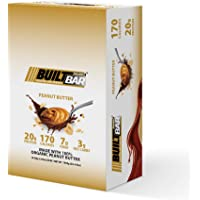 Built Bar 18 Pack Energy and Protein Bars - 100% Real Chocolate - High in Whey Protein and Fiber - Gluten Free, Natural Flavoring, No Preservatives (Peanut Butter)