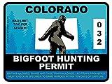Bigfoot Hunting Permit - COLORADO (Bumper Sticker)