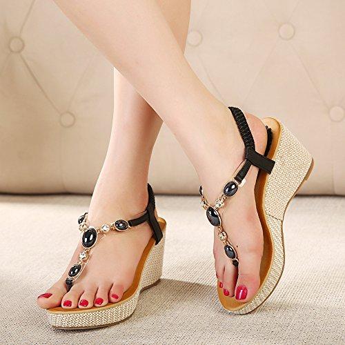 Sandales Zamme Cnpshoe168 Pour Noir Femme 4wawz5g7xq