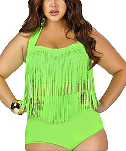 4426d5debe Zerlar big fringe swimwear plus size bikini bathing suits for women with  tassel