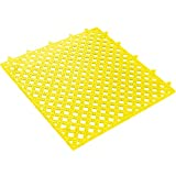 Ship Now Supply SNMAT320YW Lok-Tyle Drainage Mats, Tile, 12'' x 12'', width, 12'' Length, Yellow