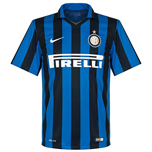 Nike Inter Milan 2015/2016 Home Stadium Soccer Jersey (Royal Blue, Black) X-Large