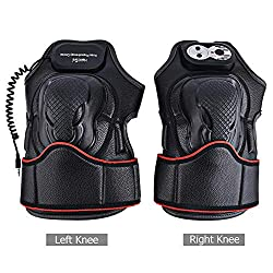 Electric Massage Knee Pads Far Infrared Heating Knee Magnetic Vibration Massager Joint Therapy Massage Electric Massage Pain Relief Heated Knee Pads