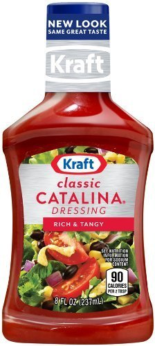 Kraft Classic Catalina Dressing, Rich & Tangy 8 Oz (Pack of 3) (Kraft Catalina Dressing)