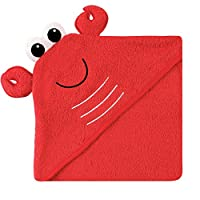 Luvable Friends Animal Face Hooded Towel, Lobster