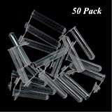 Aysekone 50 Pack 10ml Non-Sterile Plastic EP Vial Sample Tubes Storage Container Centrifuge Microcentrifuge Tubes Polypropylene Graduated with Snap Cap