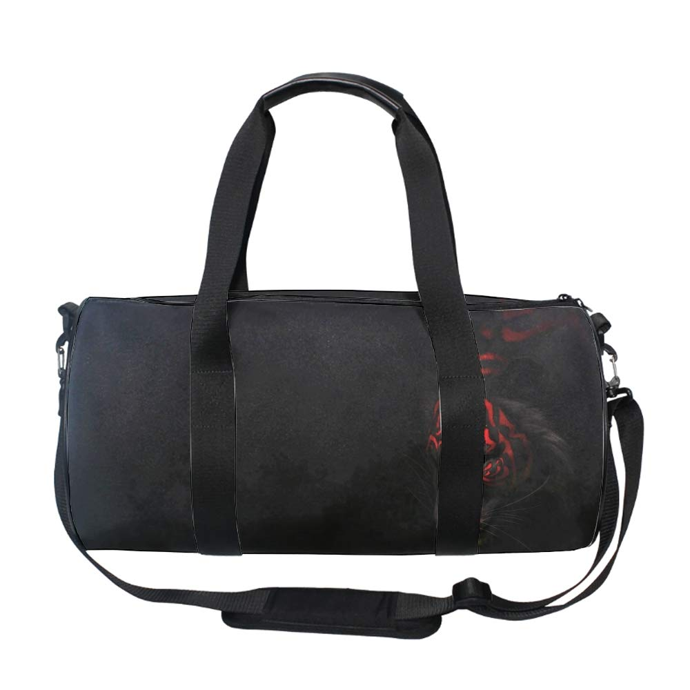 4a5a54009205 Amazon.com | Red Violet Tiger Black Gym Duffle Bag Drum tote Fitness  Shoulder Handbag Messenger Bags | Sports Duffels