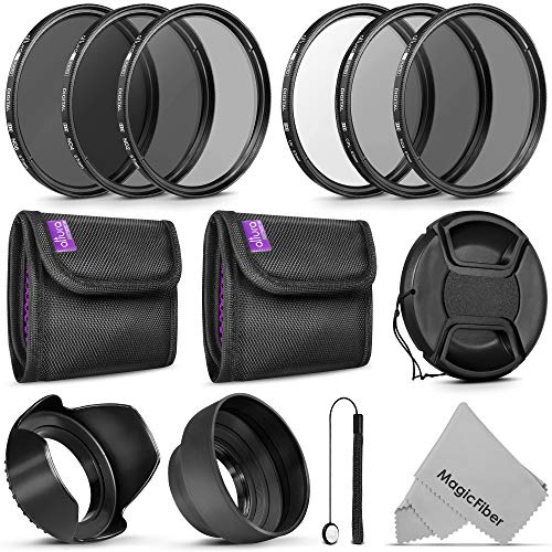 67MM Altura Photo UV CPL ND4 Lens Filters Kit and Altura Photo ND Neutral Density Filter Set. Photography Accessories Bundle for Canon and Nikon Lenses with a 67MM Filter Size from Goja