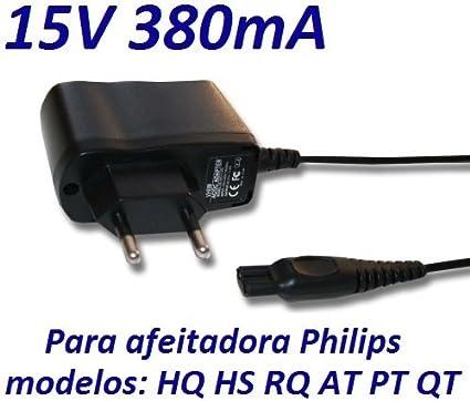 CARGADOR ESP ® Cargador Corriente 15V Reemplazo Afeitadora Philips ...