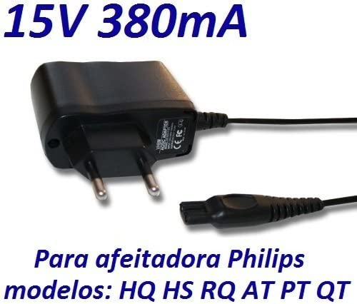CARGADOR ESP ® Cargador Corriente 15V Compatible con Reemplazo Afeitadora Philips HQ7300 HQ7320 HQ7340 HQ736 HQ8445 Recambio Replacement: Amazon.es: Electrónica