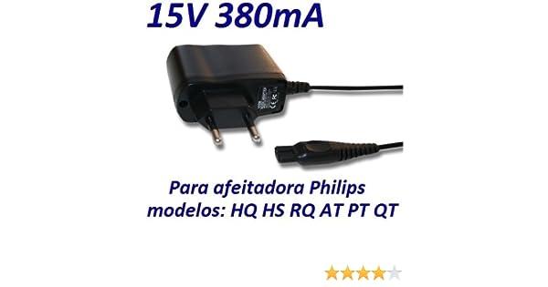 Cargador Corriente 15V Reemplazo Afeitadora Philips PT715 PT720 ...