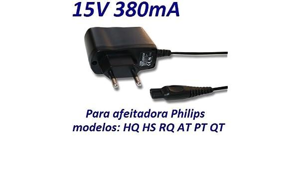 Cargador Corriente 15V Reemplazo Afeitadora Philips PT925/20 PT925/80 QT4022/15 Recambio Replacement: Amazon.es: Electrónica