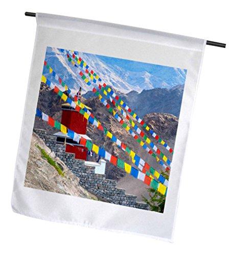 (3dRose Jammu & Kashmir, Ladakh, Prayer Flags at Thiksey Monastery - Garden Flag, 18 by 27