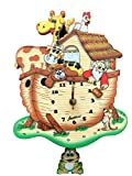 Noah's Ark Wall Clock with Frog Pendulum for