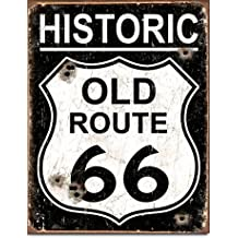 "New Historic Old Route 66 Highway 16"" x 12.5"" (D1938) Retro Vintage Appearance Tin Sign"