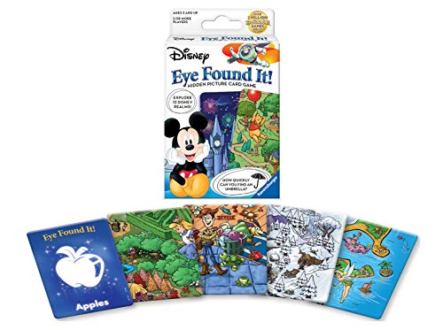Wonder Forge World of Disney Eye Found It Card Game for Boys & Girls Age 3 & Up - Hidden picture card game with your favorite Disneycharacters!
