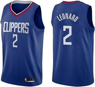 Camiseta de Kawhi Leonard de TrikotjerseyNBA - Los Angeles Clippers # 2 Jersey Bordado Traje de Verano de Baloncesto Traje Camisa, Camiseta portadora ...