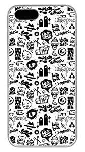 Black And White Pattern Of Personality Hard Case Cover iPhone 5S 5 Polycarbonate White