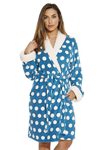 Turquoise Dot - Just Love Kimono Robe/Bath Robes for Women,Turquoise,2X Plus