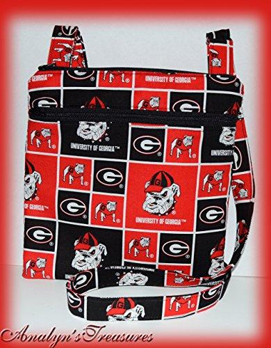 - Georgia Bulldog Quilted Crossbody Bag, UGA Double Zippered Bag, Hipster Bag, Travel Bag, Passport Bag, Crossbody Purse, Quilted Bag, or Choose Other Theme