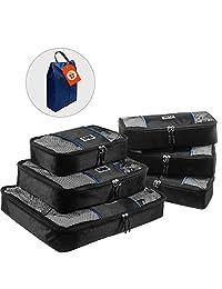 UBAG Travel Packing Cubes – Set of 6 Packing Organizers or Luggage Packing Cubes – Packing Cubes Value Set
