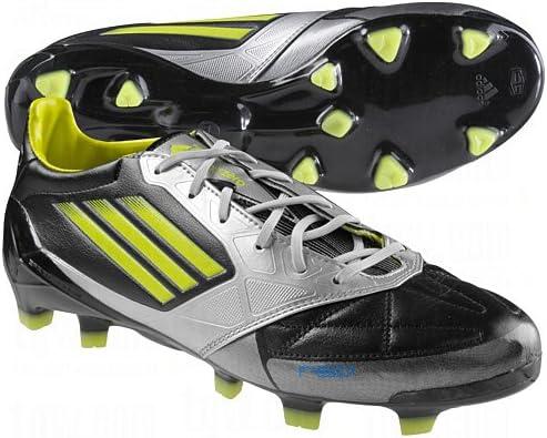 Egomanía cine Montaña  Amazon.com: adidas F50 adiZero Leather TRX FG Soccer Shoes (Black/Lime) 7:  Shoes